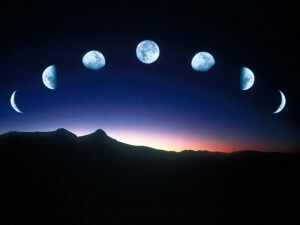 Лунный цикл подразумевает различные фазы небесного тела