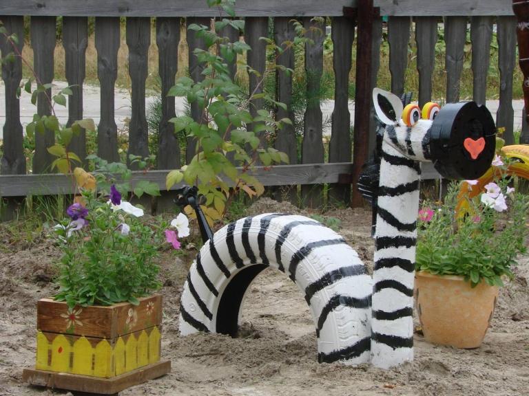 Мастер-классы поделки из шин для сада своими руками