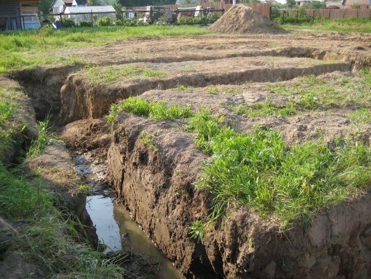 Близкое залегание грунтовых вод