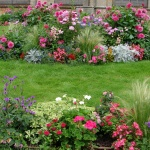Основные сведения о схемах цветников непрерывного цветения